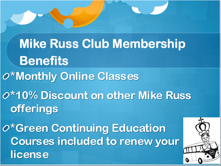 Mike Russ Club Student Membership Benefits